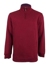 Club Room Mens Cotton 1/4 Zip Pullover Sweater Red 3XL - €16,95 EUR