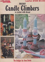 Holiday Character Candle Climbers, Leisure Arts Crochet Pattern Booklet ... - $7.95