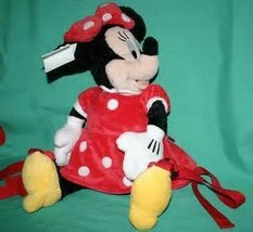 Disney Minnie Mouse Plush Backpack Kids Red Polka Dot Dress Theme Parks Exclusiv - $59.25