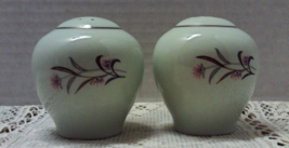 Vintage Salt & Pepper Shaker Set Art Deco Flowe... - $12.00