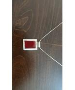 "Designer Erwin Pearl Sterling Silver Red Enamel Pendant 2.5cm Necklace 16"" - $16.63"