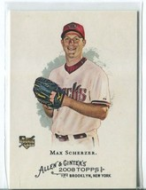 MAX SCHERZER RC 2008 Topps Allen and Ginter #297 ROOKIE Diamondbacks - $9.49