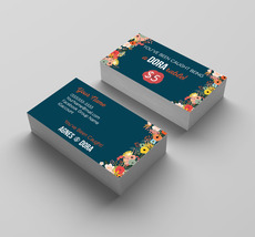 100 printed Agnes & Dora- Business Card Floral 3 - $34.90