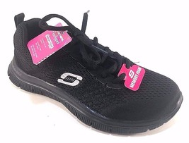 Skech-Knit by Skechers 12058 Black Lace Up Memory Foam Sneakers - $69.00