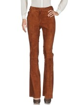 Classic Casual pants Hot & Sexy Style Women's 100% Genuine Soft Skin Suede Pants