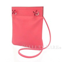 HERMES SAC Aline Mini Lambskin Leather Rose Azalee Shoulder Bag #D Authentic - $1,944.09