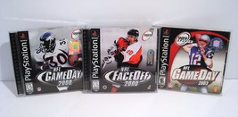 NFL GameDay 2000 & 2003 Plus NHL FaceOff 2000 Playstation 1 PS1 Lot of 3 Games! - $9.95