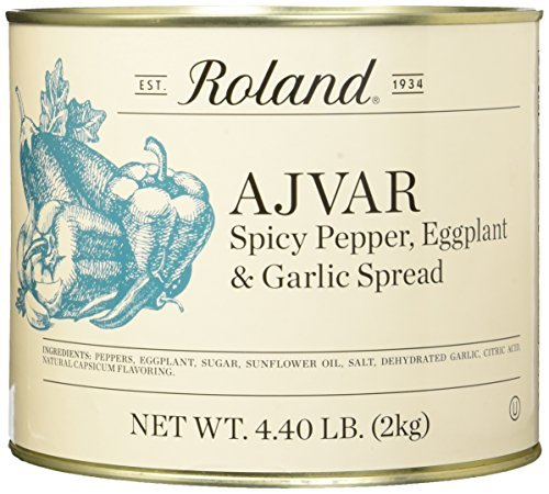Roland Foods Ajvar Spicy Pepper, Eggplant & Garlic Spread, 4.40 Pound
