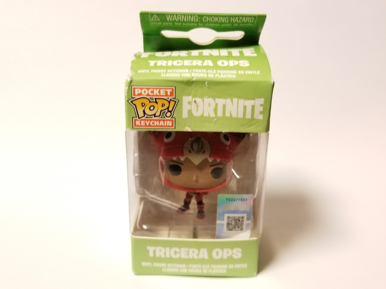 Fortnight Funko Pocket Pop Keychain Tricera Ops