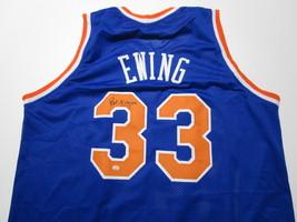 PATRICK EWING / NBA HALL OF FAME / AUTOGRAPHED N.Y KNICKS CUSTOM JERSEY / COA image 1