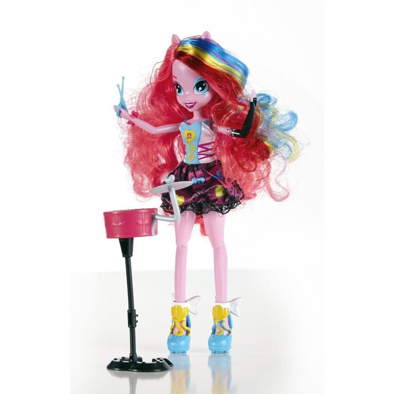 Image 4 of My Little Pony Equestria Girls Pinkie Pie Doll Rocks & Sings w/Drums 6+ Hasbro