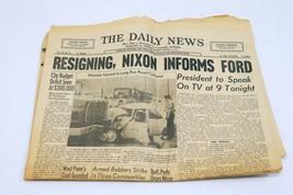 Vintage Aug 8 1974 PA Daily News Newspaper Richard Nixon Resigns - $49.49