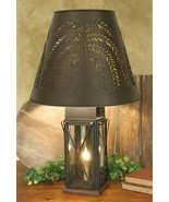 Rustic Primitive Large Milk House 4-Way Lamp with Willow Shade - Rustic ... - $103.95