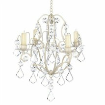 Baroque Chandelier Ivory Metal Candle Holder - $25.29