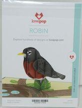 Lovepop LP1791 Robin Pop Up Card Slide Out Note White Envelope Cellophane Wrap image 6