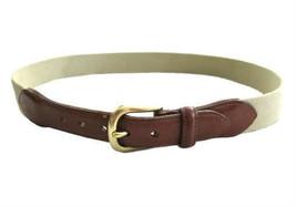 Coach Beige Surcingle & Leather Belt with Brass Buckle size 30 - $26.00