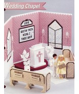 Wedding Chapel fits Barbie Doll Annie's Plastic Canvas Pattern Leaflet NEW - $4.92