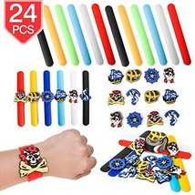 PROLOSO Slap Bracelets Silicone Slap Wristband Pirate Snap Bracelet Kids Slap To - $15.44