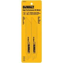 """Dewalt DW4808-2 6"""" x 14 TPI HP Bi-Metal Reciprocating Saw Blades USA - $2.97"""
