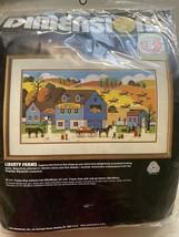 RARE Vtg Dimensions Charles Wysocki LIBERTY FARMS Americana NEEDLEPOINT ... - $148.51