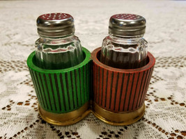 Shot Gun Shell Western Salt & Pepper Holder & Glass Shakers - $18.70