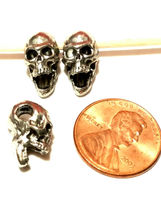 SKELETON HORIZONTAL HOLE FINE PEWTER BEAD - 8mm L x 15mm W x 9mm D image 3