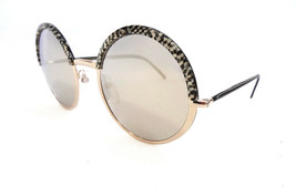 Cutler & Gross Women's Sunglasses 1070 MOZB-ZBGR Round Metal/Leather ITA... - $175.00