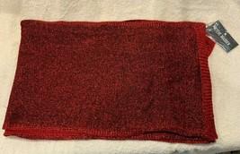 "Steve Madden Solid Lurex Knit Muffler Scarf, Red, 82"" x 13"" - $27.99"