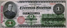 1862 *1 Dollar Legal Tender Note** This was the first Federal *1 Dollar ... - $6.99