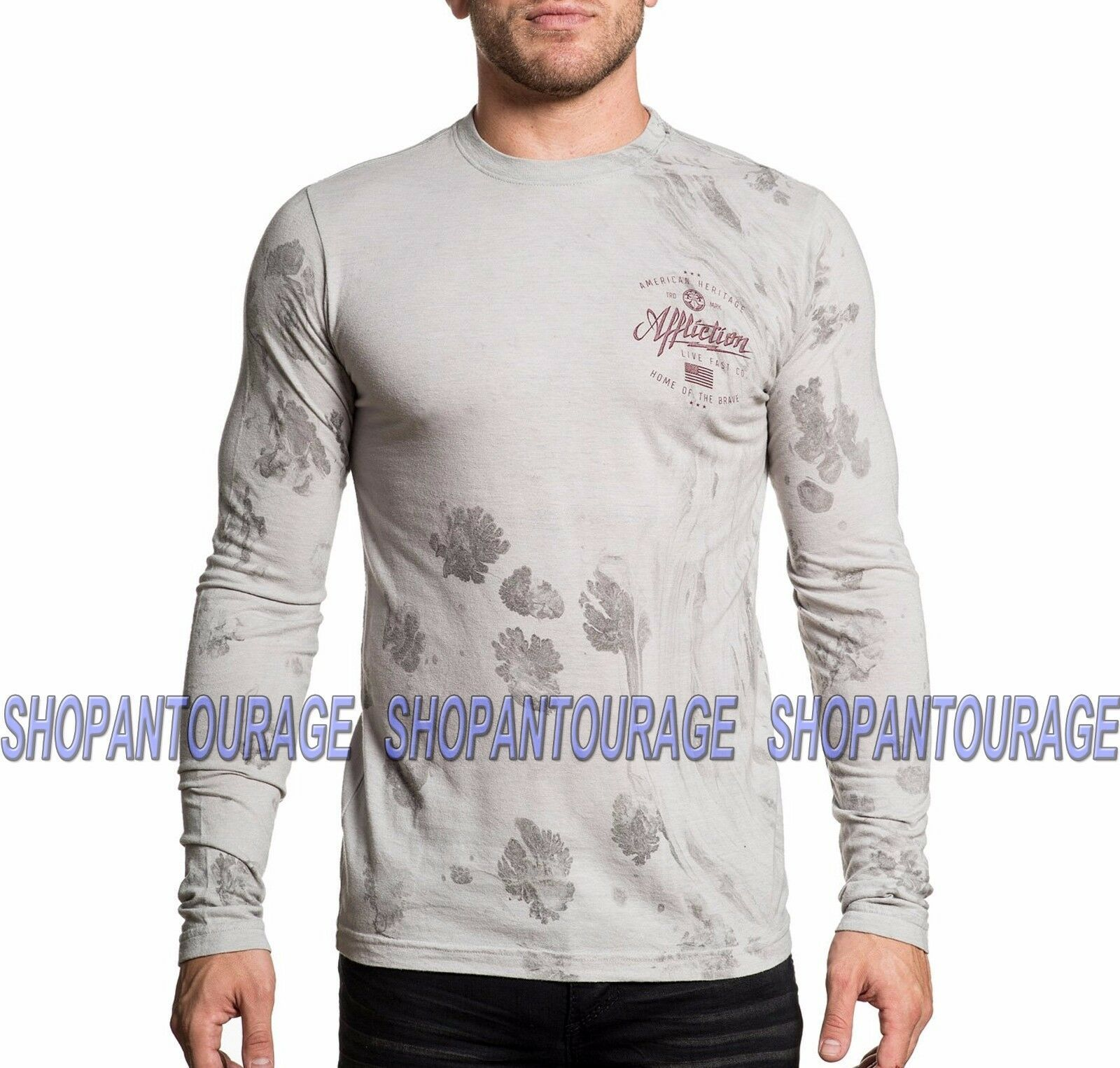 Primary image for Affliction Brave Heritage A16873 New Long Sleeve Graphic Fashion T-shirt for men