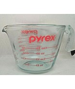 Vintage Pyrex 1-Cup Measuring Cup With L Handle, Red Lettering USA  #508 - $14.70