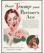 Vintage magazine ad COCA COLA from 1933 woman pic Don't Trump Your Partn... - $12.99