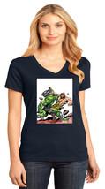 Hulk VS Hercules District Made Ladies Perfect Weight V-Neck T-Shirt Size XS-4XL - $19.99+