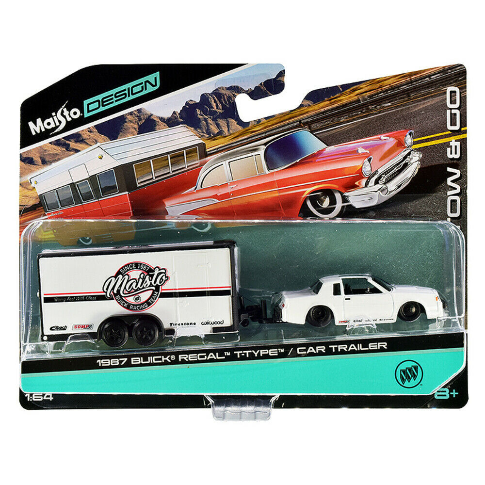 1987 Buick Regal T-Type and Enclosed Car Trailer White Tow & Go Series 1/... - $26.75