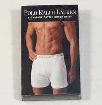 Ralph Lauren Blue Signature Cotton Boxer Brief Mens New in Package - $18.74