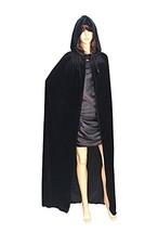 Unisex Hooded Cloak Witch Vampire Princess Cape Long Velvet Robe Hallowe... - $20.12