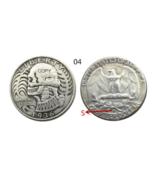 US Hobo 1936- S Washington Quarter Dollars Faceless Man skull skeleton C... - $7.99