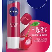 Nivea Cherry Shine Caring Lip Balm 4.8 gm Long Lasting Moisturiser Free ... - $8.99+