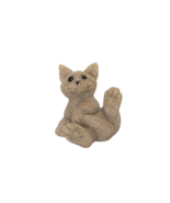 Vintage Quarry Critters Playful Cat Figurine Clyde Second Nature Designs... - $14.99