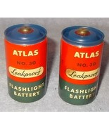 Vintage Collector Atlas No 30 Flashlight D Size Battery Set - $12.95