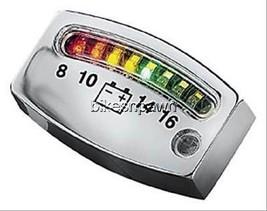 New Kuryakyn 4219 LED Chrome Battery Gauge for 12V Systems - $41.30
