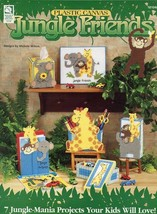 Jungle Friends 7 Projects Kids Will Love HoWB Plastic Canvas Pattern Booklet - $4.47