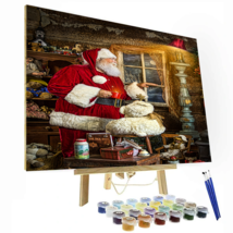 Santa Coffee Time Paint by Number Kit - $13.99