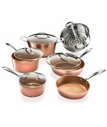 Gotham Steel Hammered Collection – 10 Piece Premium Cookware Pots and Pa... - $218.78