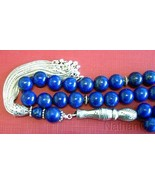 Luxury Prayer Beads Tesbih AA Grade Lapis & Sterling  Top Quality Collec... - $252.45