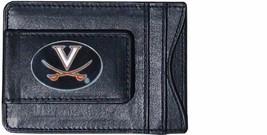 virginia cavaliers oval logo ncaa college emblem leather cash & cardholder - $27.07
