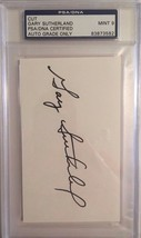 Gary Sutherland Autographed 3X5 Cut PSA/DNA MINT 9 Certified - $19.34