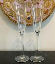 Kosta Boda Crystal Clear Line Champagne Flutes Set of 2  - $48.51