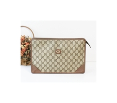 vintage GUCCI GG Web clutch handbag authentic  - $402.27 CAD
