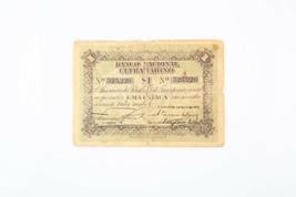 1910 Timor 1 Pataca Nota Banco Cappello Ultramarino Portoghese VG P #1 - $222.76